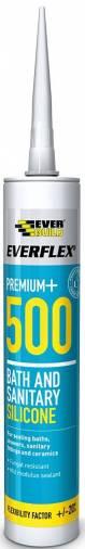 Everbuild 500 Sanitary Silicone 300ml  Image 1