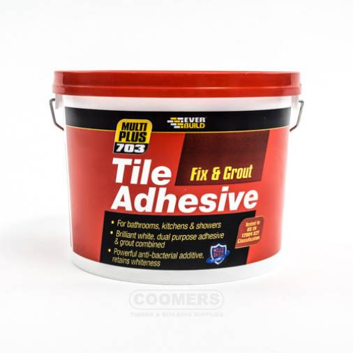 Everbuild 703 Fix & Grout Tile Adhesive - White Image 1
