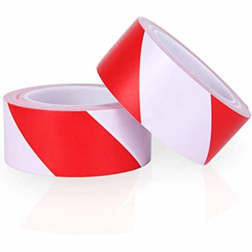 Everbuild Barrier Tape Red/White 72mm x 500m Image 1