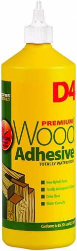 Everbuild D4 Wood Adhesive 1L - White Image 1