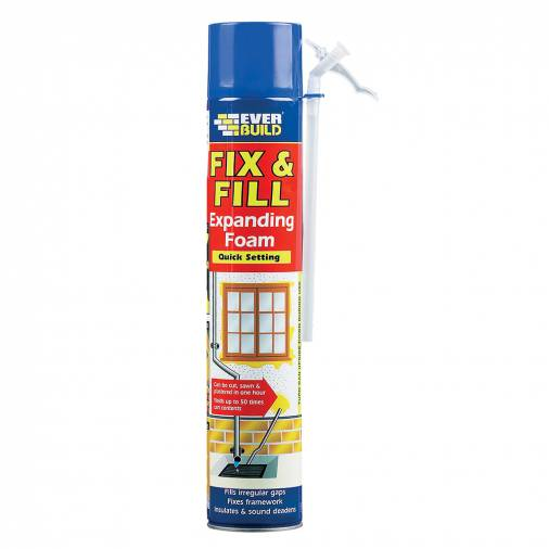 Everbuild Fix & Fill Expanding Foam Hand Held 750ml   Image 1