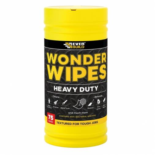 Everbuild Heavy Duty Wonder Wipes / Scrubs - Pack 75  Image 1