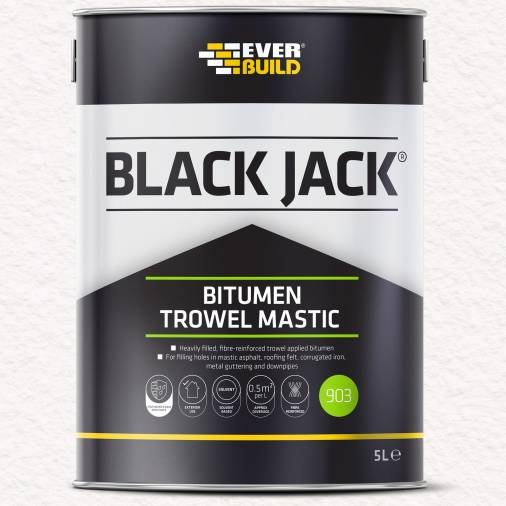 Everbuild 903 Bitumen Trowel Mastic - Black 2.5 litre Image 1