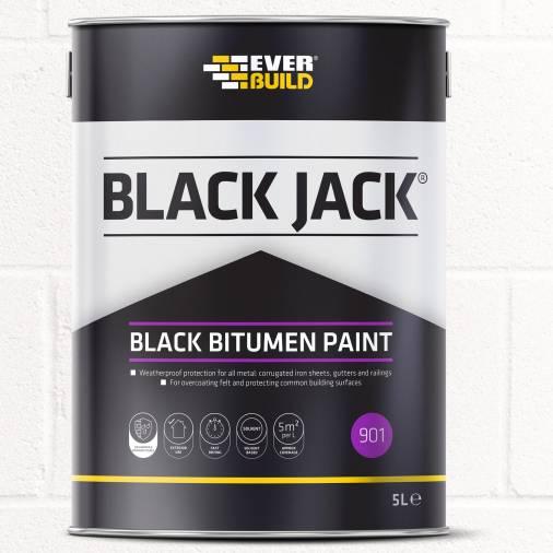 Everbuild 901 Bitumen Paint - Black Image 1