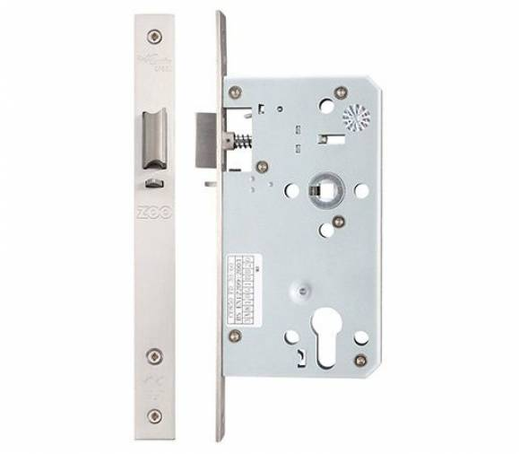 Zoo ZDL DIN Standard Mortice Lock 60mm - Satin Stainless  Image 4
