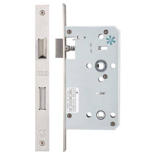 Zoo ZDL DIN Standard Mortice Lock 60mm - Satin Stainless  Image 2