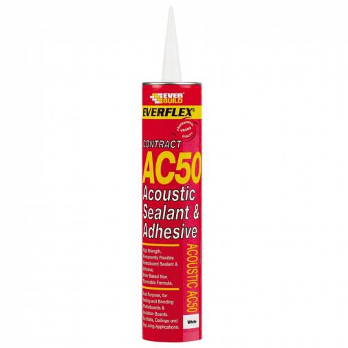 Everbuild AC50 Acoustic Sealant & Adhesive 380ml - White  Image 1