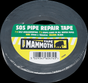 Added Everbuild SOS Piper Tape Black 25mm x 5m (12) To Basket