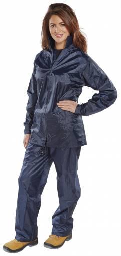 B-Dri NBDSN Nylon Rain Suit / Waterproofs Navy  Image 1