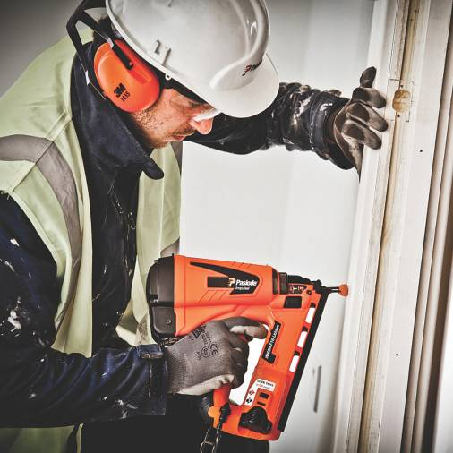 Paslode IM65A Angled F16 Gas Finishing Brad Nailer w/ 2 x 2.1Ah Batteries | SIIS SPECIAL Image 3
