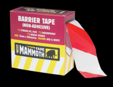 Added Everbuild Barrier Tape Red/White 72mm x 500m (8) To Basket