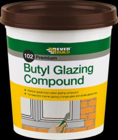 Everbuild 102 Butyl Glazing Compound Brown 2kg (6) Image
