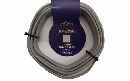 SparkPak CP2/10 Twin & Earth Cable 1.5mm x10m | Specialist Ironmongery & Industrial Suppliers Ltd