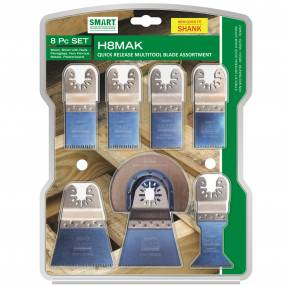 Added Smart H8MAK Multi-Tool Blade Set 8pc To Basket