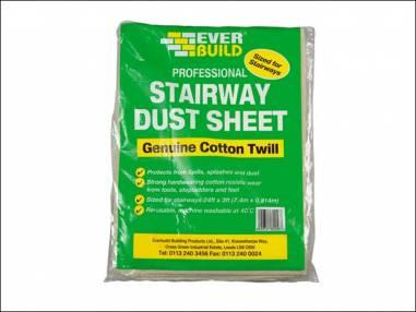 Everbuild Stairway Cotton Dust Sheet 24 x 3