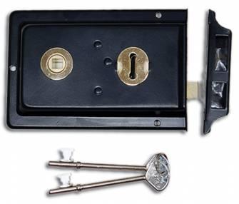 Basta BW430 Double Handed Rim Lock 6 x 4