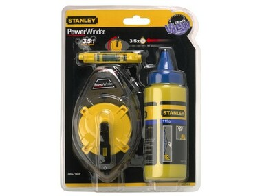 Stanley 0-47-465 Powerwinder Chalk Line Set | SIIS Ltd