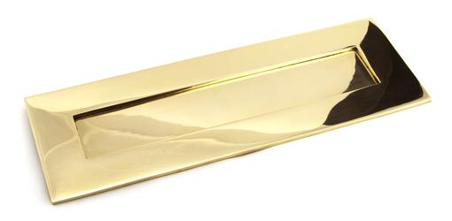 Added Polished Brass Large Letter Plate To Basket