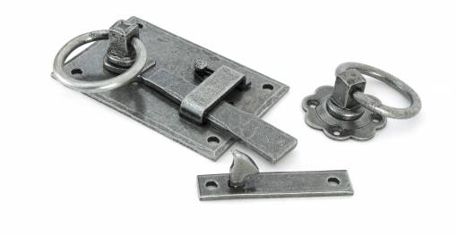 Added Pewter Cottage Latch - LH To Basket