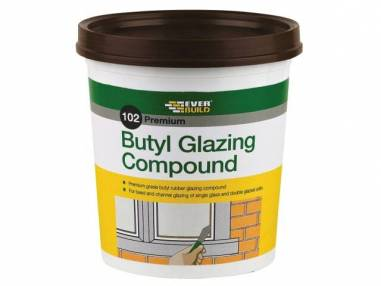 Everbuild 102 Butyl Glazing Compound - Brown 2kg | SIIS